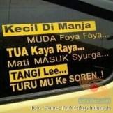 Kumpulan Tulisan lucu di kaca samping truk ....hehehe....gokil 2017 (18)