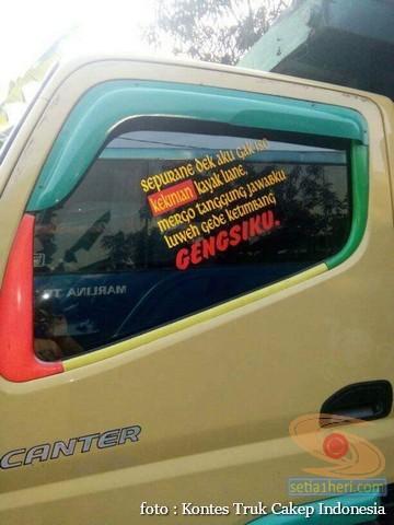 Kumpulan Tulisan lucu di kaca samping truk ….hehehe….gokil 2017 (22)