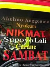Kumpulan Tulisan lucu di kaca samping truk ....hehehe....gokil 2017 (3)