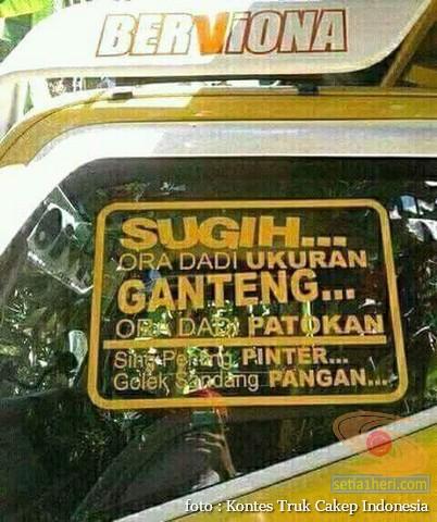 Kumpulan Tulisan lucu di kaca samping truk ….hehehe….gokil 2017 (4)