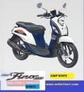 Yamaha fino sporty ban lebar dan tubeless tahun 2017 warna jump white