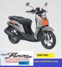 Yamaha fino sporty ban lebar dan tubeless tahun 2017 warna pump grey