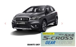 Suzuki New SX4 S Cross tahun 2017 warna granite grey