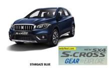 Suzuki New SX4 S Cross tahun 2017 warna stargaze blue