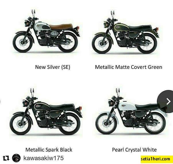 Spesifikasi Dan Harga Motor Retro Kawasaki W175 Tahun 2017