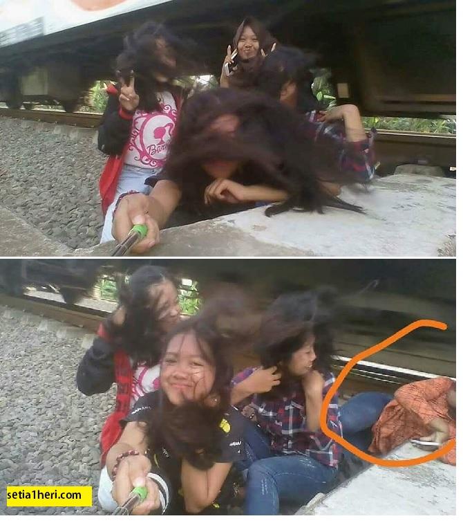 Berfoto wefie dekat rel, remaja putri asal Purworejo ini tersambar kereta api