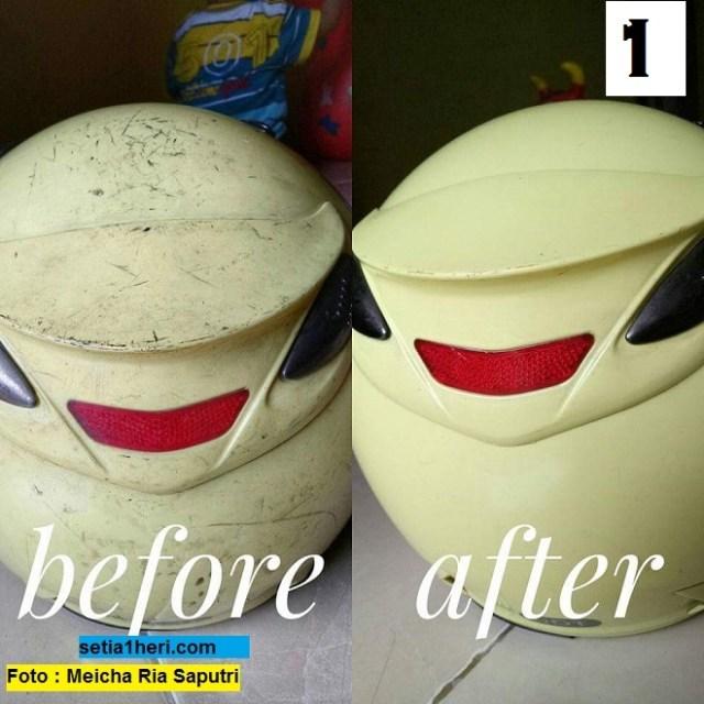 Cara alternatif bersihkan helm kotor