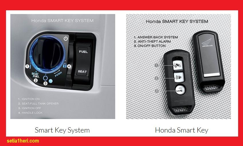 Cara menggunakan Honda Smart Key System pada Honda PCX 150 bagi pemula