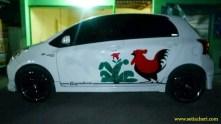 Kumpulan gambar modifikasi livery Mangkok lukisan Ayam Jago di dunia otomotif (6)