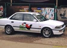 Kumpulan gambar modifikasi livery Mangkok lukisan Ayam Jago di dunia otomotif (8)