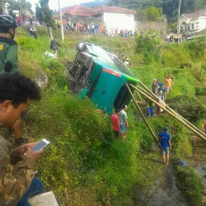 Kecelakaan maut minibus di jalur tanjakan Sarangan, Magetan, 3 orang meninggal dunia