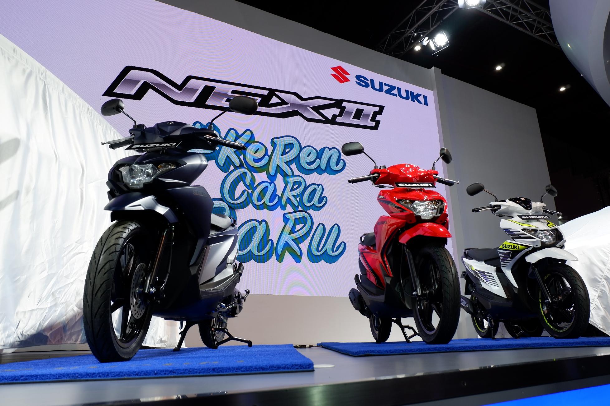 Penampakan motor Suzuki Nex II dan Variannya tahun 2018