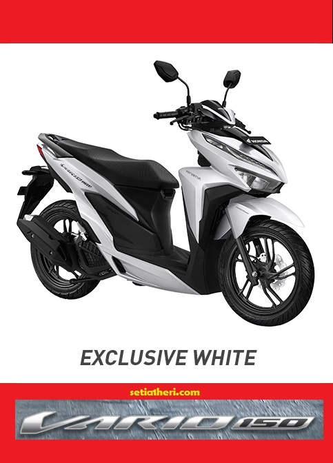 Pilihan warna putih Honda Vario 150 tahun 2018