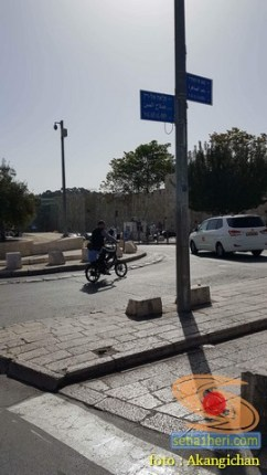 jalanan salahudin dan bab al sahra di al-quds palestina