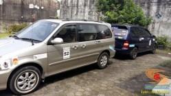 ragam posisi dan letak antena di mobil bagian depan