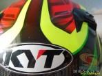 Review Helm KYT K2 Rider Super FLuo tahun 2018 (10)