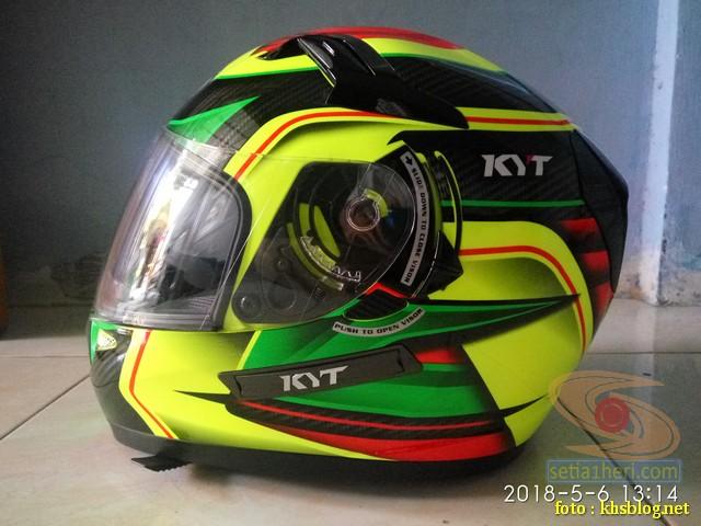 Review Helm KYT K2 Rider Super FLuo...busa empuk brosis