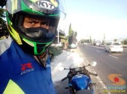 Serunya blogger setia1heri manasin mesin Suzuki GSX R 150 alias si 3C0 buat sungkem emak di Tuban (16)