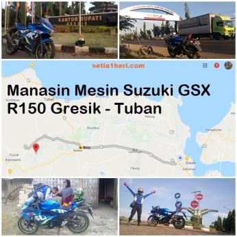 Serunya manasin mesin Suzuki GSX R 150 alias si 3C0 buat sungkem emak di Tuban