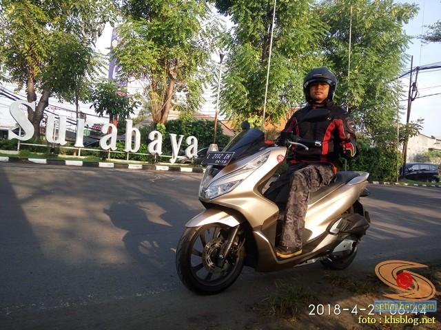 blogger setia1heri Ngincipi Honda PCX Indonesia wira-wiri Gresik-Surabaya tahun 2018 (7)