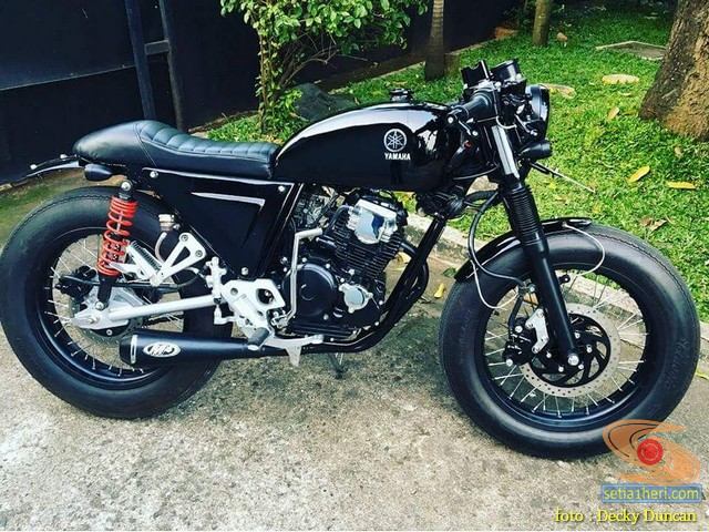 Modifikasi Yamaha Scorpio jadi Caferacer brosis