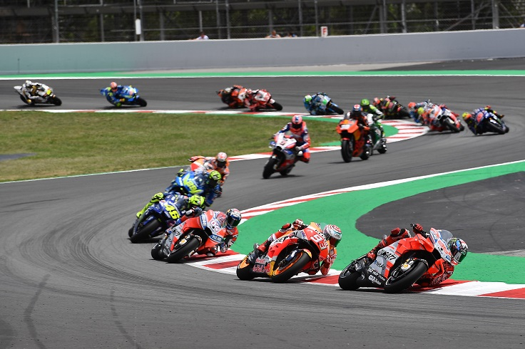 Download Video Full Race Moto GP Catalunya, Spanyol 2018 : Lorenzo ngacir duluan disusul Marques dan Mbah Rossi