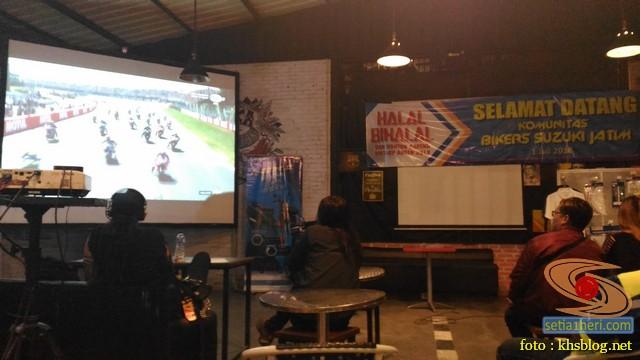 Meriahnya Halal Bihalal Biker Suzuki Jawa Timur dan Nobar Moto GP Assen 2018 (2)