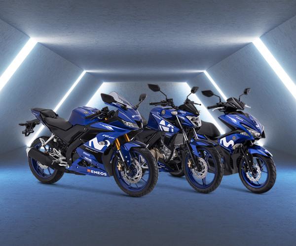 Penampakan Yamaha Vixion, Aerox dan R15 V3 livery Movistar Yamaha MotoGP tahun 2018