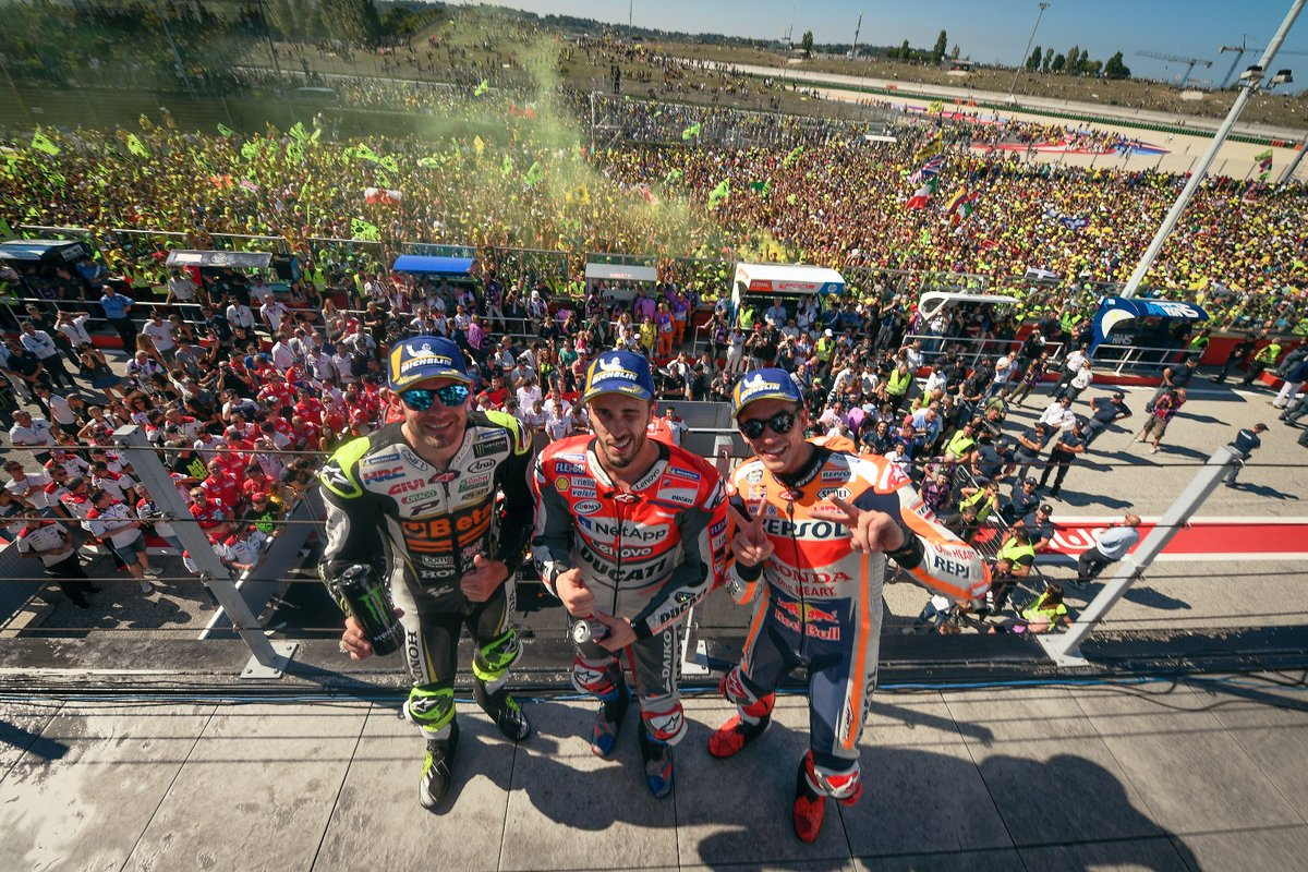 Hasil Moto GP San Marino, Misano 2018 Dovi juara pertama disusul Marquez dan Cructhlow