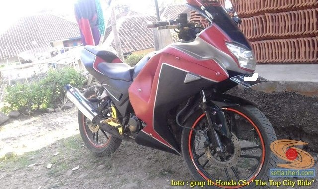 Modifikasi Honda CS1, motor ayago rasa sport pakai Full Fairing