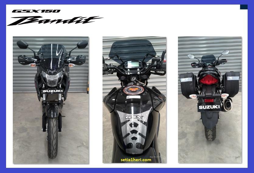 Modifikasi minimalis Suzuki GSX 150 Bandit versi turing