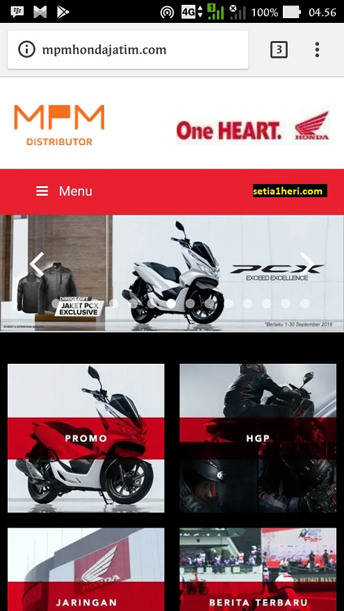 website resmi sepeda motor honda di jawa timur