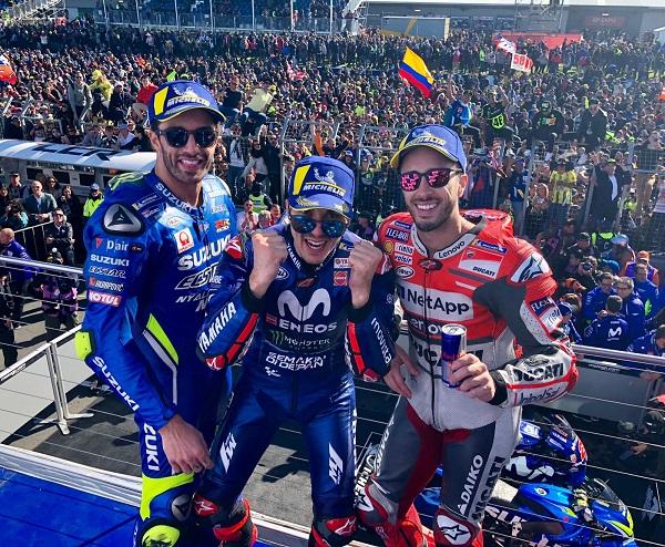 Hasil Moto GP Asutralia tahun 2018, Vinales raih podium, Marques crash