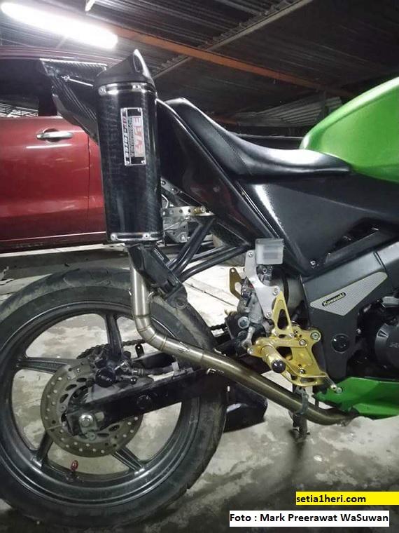 Modifikasi knalpot motor asal Thailand ini bikin takjub gans
