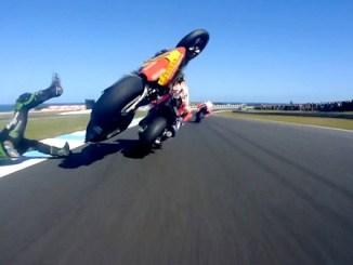 insiden zarco dan marquez di moto gp australia tahun 2018