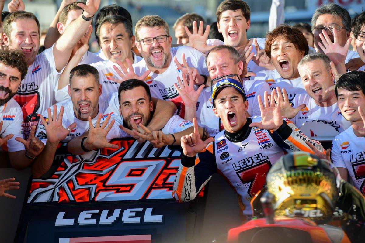 marc marquez juara dunia moto gp tahun 2018 di sirkuit motegi