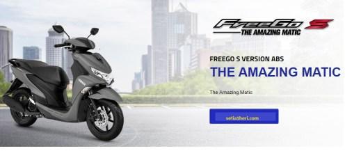 yamaha freego s tipe ABS warna metallic black tahun 2018