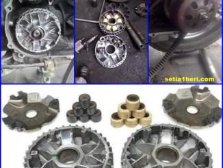 Daftar roller motor matic Honda, Yamaha dan Suzuki yang bisa saling tukar posisi