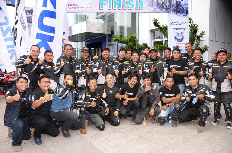 Suzuki GSX150 Bandit diajak turing Pekanbaru hingga Padang, bandel brosis (2)