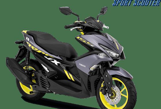 Pilihan warna baru Yamaha Aerox 155 VVA tahun 2018 warna grey atau abu-abu