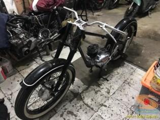 Restorasi motor klasik, unik dan langka merk DKW Union Tahun 1955 (Made in Germany) (7)