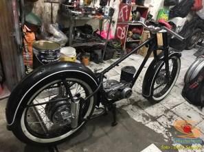Restorasi motor klasik, unik dan langka merk DKW Union Tahun 1955 (Made in Germany) (8)