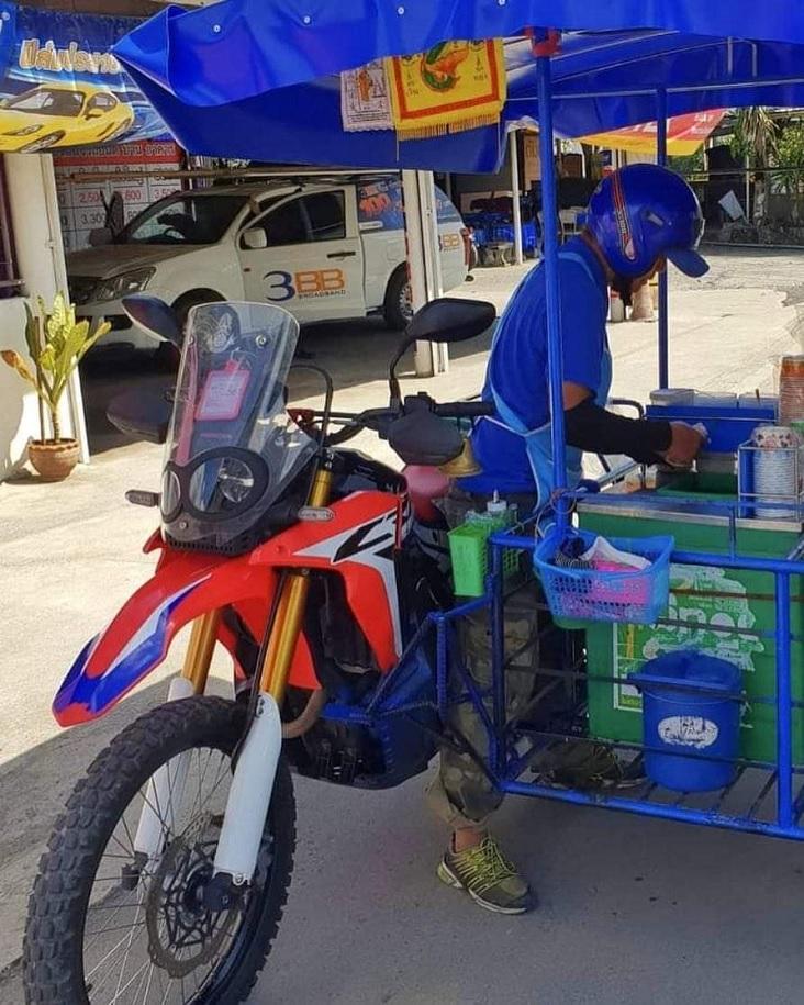 Wow Honda Crf250rally Di Thailand Buat Jualan Cendol Gans Hehehe