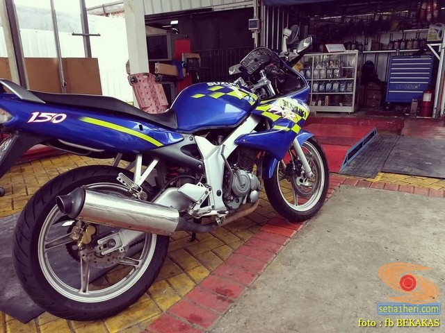 Cerita biker service motor sendiri Suzuki FXR 150 lansiran 2004