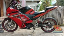 Modifikasi Honda Supra Fit full fairing kayak motor sport brosis (1)