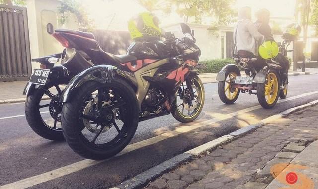 Modifikasi keren Suzuki GSX R150 untuk kawan-kawan Difabel (3)