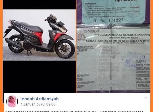 Waspada, sepeda motor hilang saat parkir di Bonbin alias Kebun Binatang Surabaya (KBS)