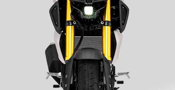 gambar shock depan Yamaha MT-15 tahun 2019
