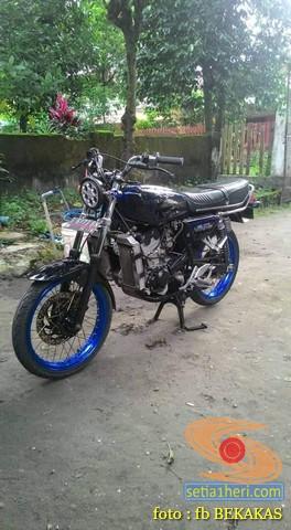 Kumpulan foto modifikasi sepeda motor salah pergaulan ...eh swap engine maksudnya brosis.. (2)