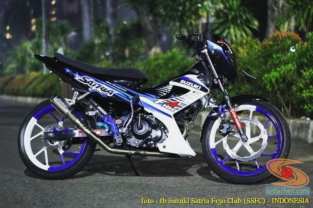 Kumpulan foto modifikasi velg repaint pada Suzuki Satria F150 (12)